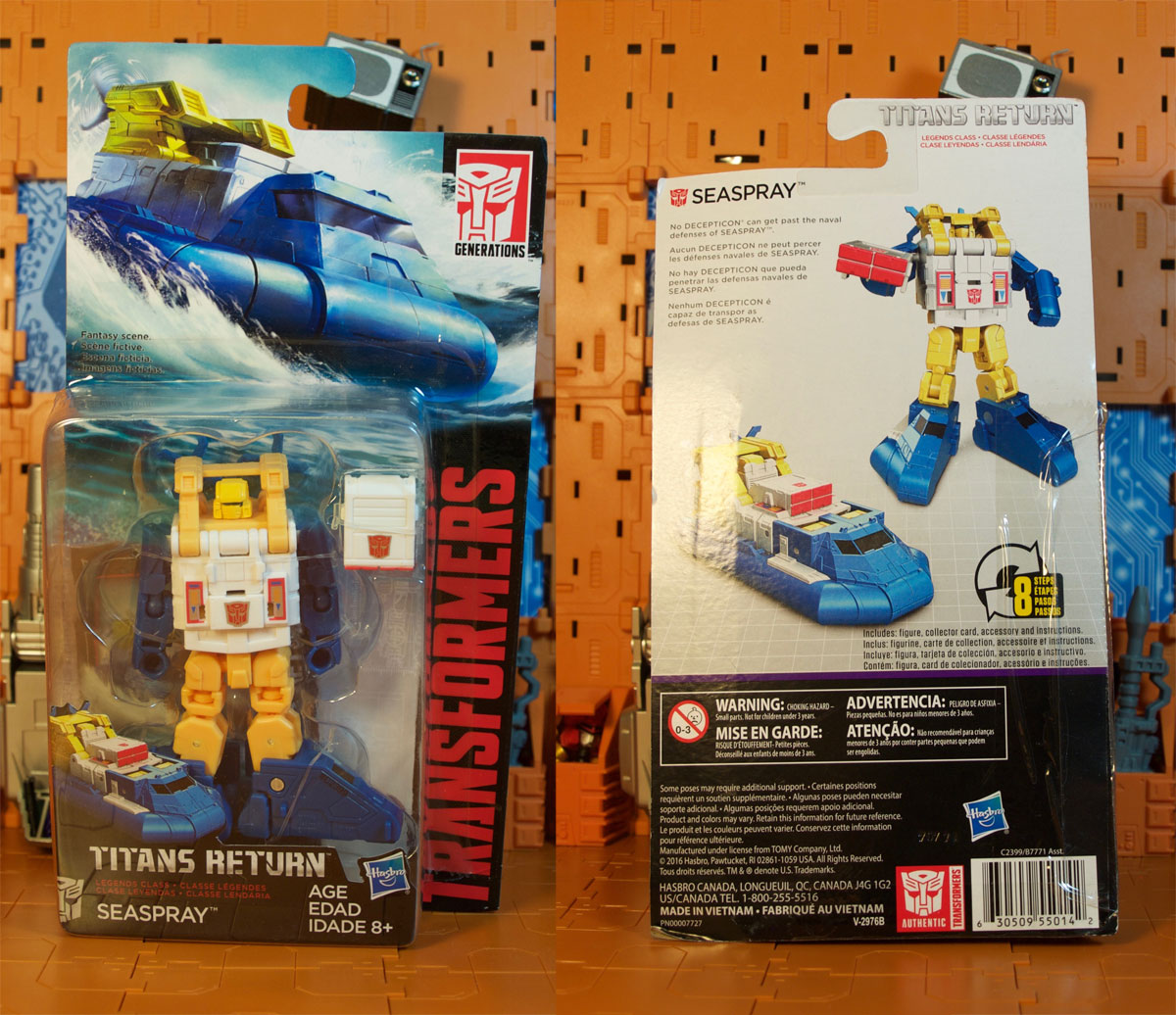 Titans Return Seaspray on card
