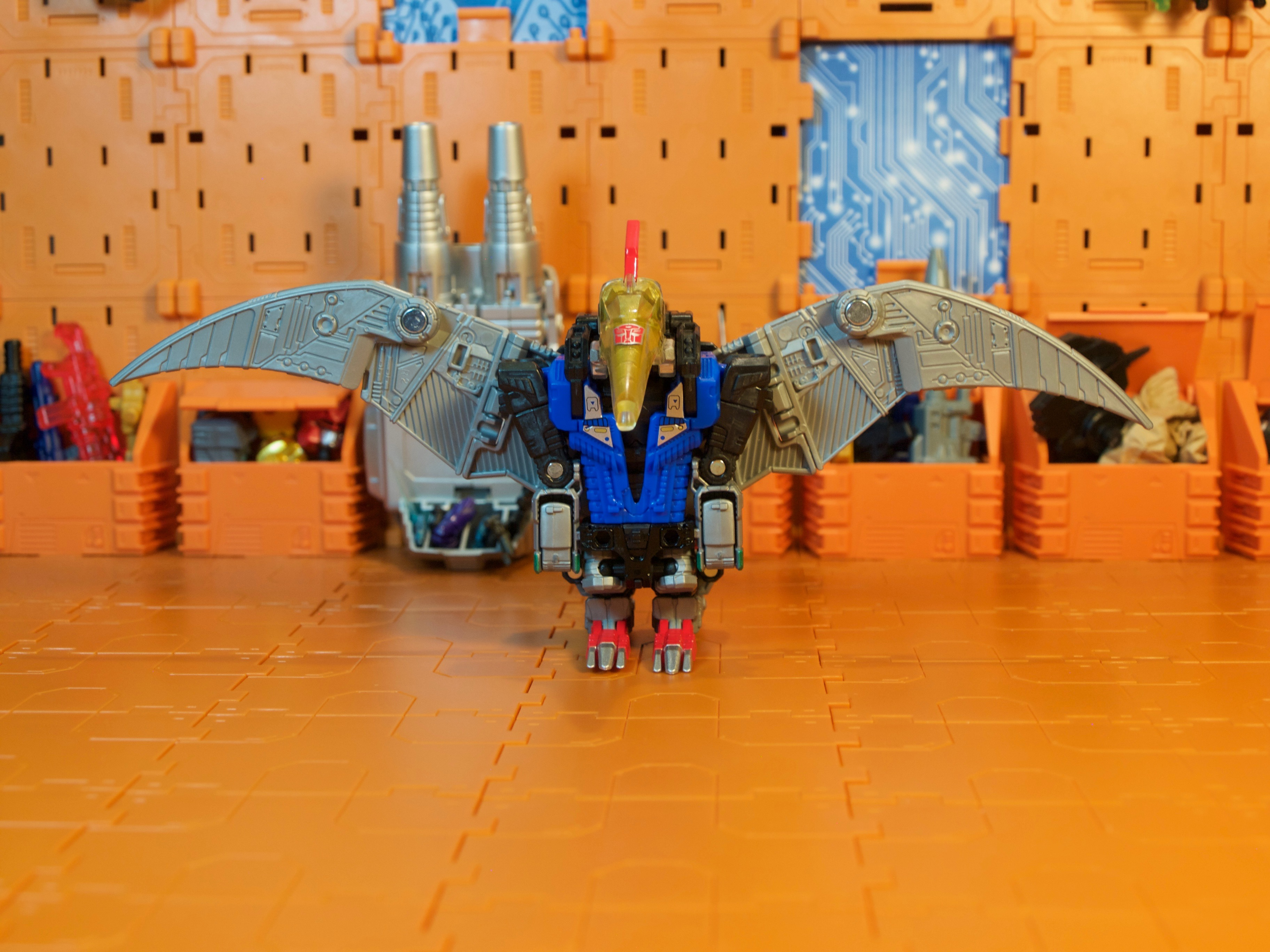 Swoop dino mode wings