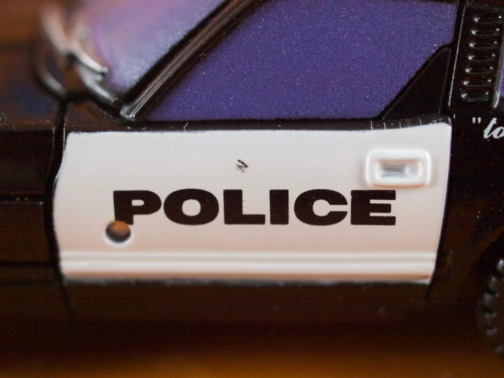 Alonzo vehicle door POLICE