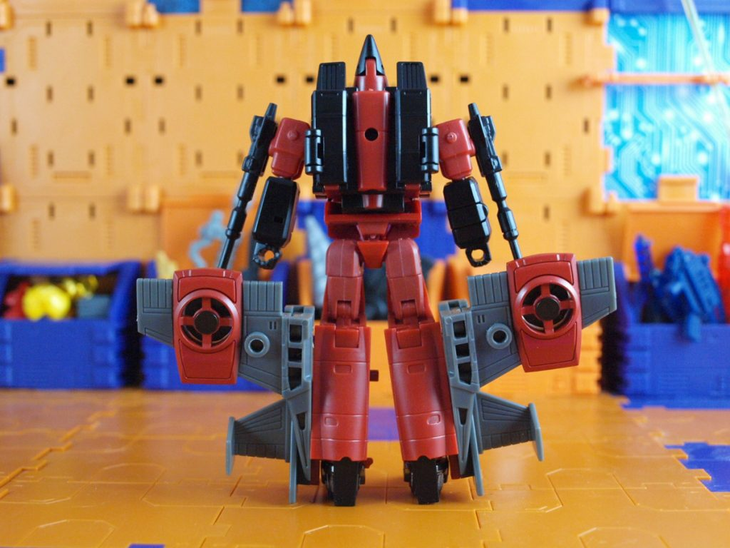 Mammon robot mode back view