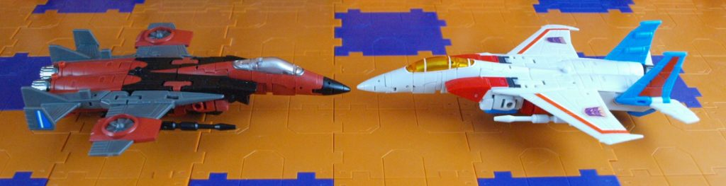 Mammon with Lucifer in jet mode side view