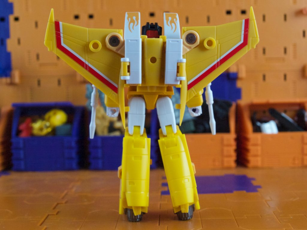 Amy robot mode back view