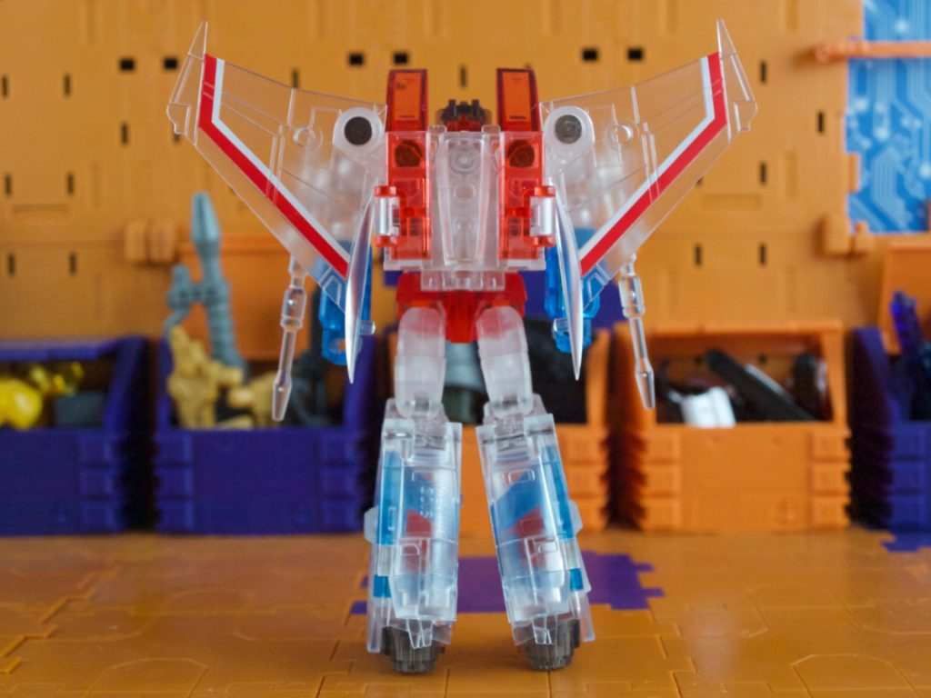 Clear Lucifer robot mode back view